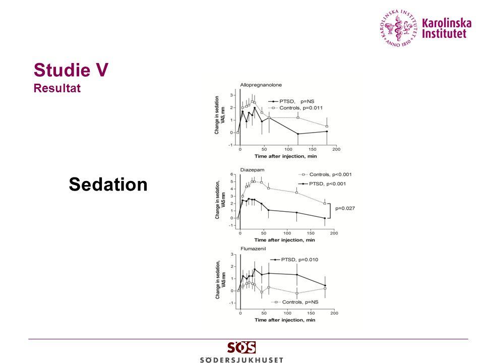 Studie V Resultat Sedation