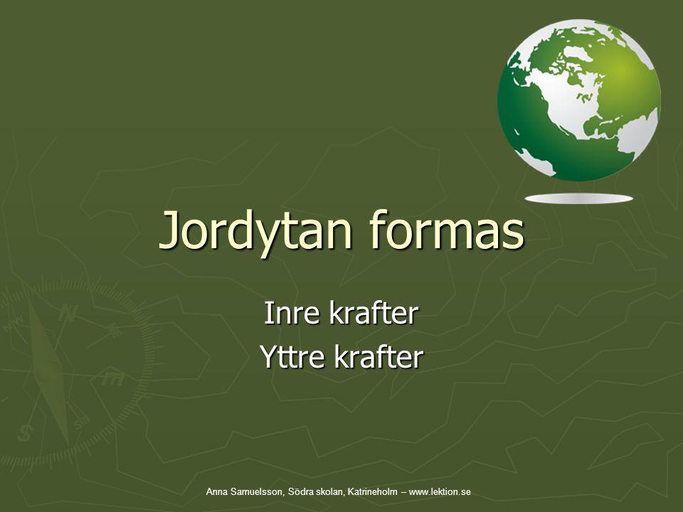 Jordytan formas Inre krafter Yttre krafter Anna Samuelsson, Södra skolan, Katrineholm – www.lektion.se