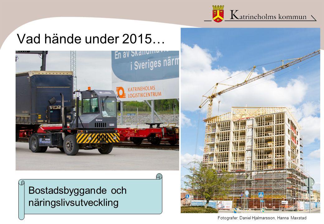 Vad hände under 2015… Bostadsbyggande och näringslivsutveckling Fotografer: Daniel Hjalmarsson, Hanna Maxstad