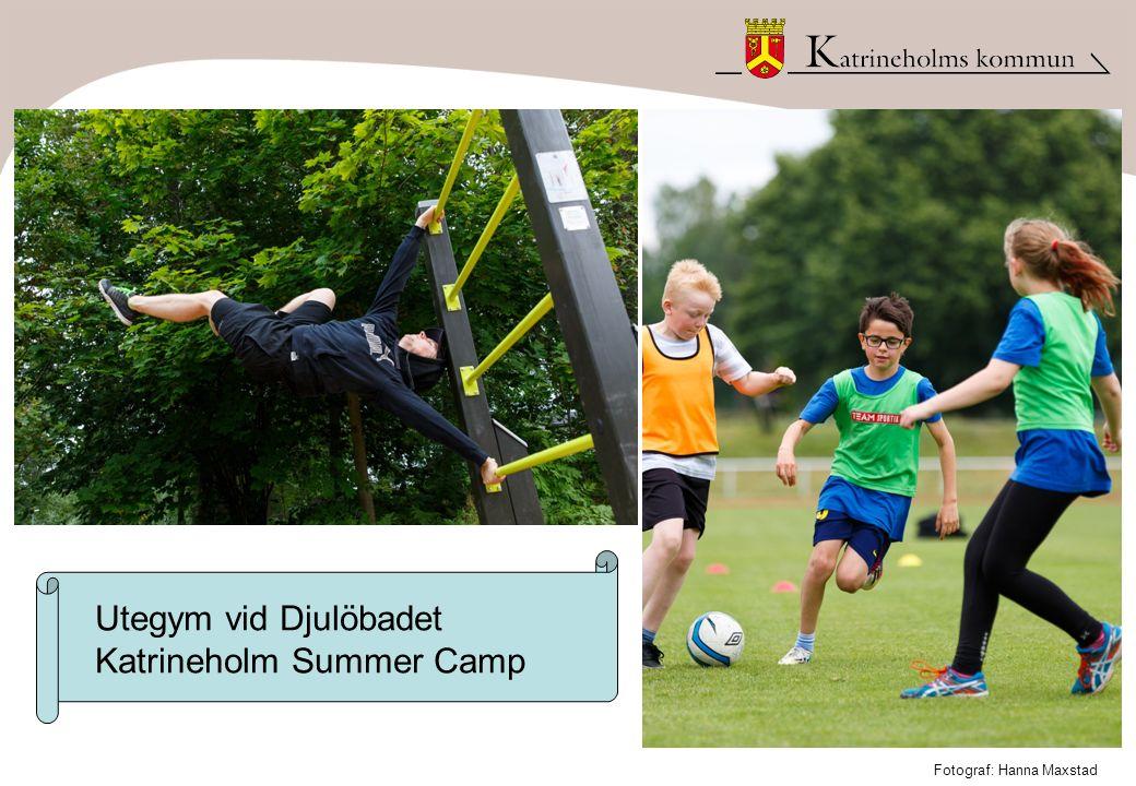 Utegym vid Djulöbadet Katrineholm Summer Camp Fotograf: Hanna Maxstad