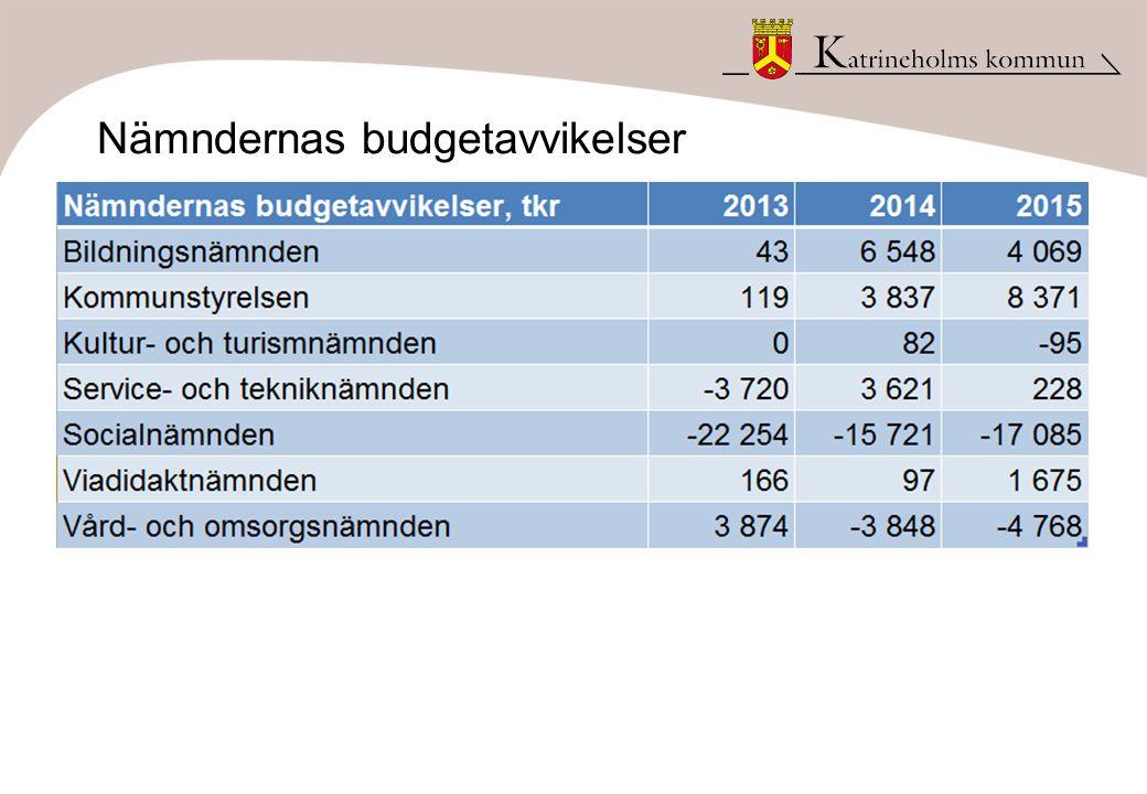 Nämndernas budgetavvikelser