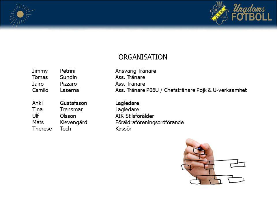 TRÄNINGS OCH SPELIDÉ Organisation 1-2-3-1 Uppbyggnad Anfallsspel Försvarsspel Passningsspel och bollinnehav Speluppfattning