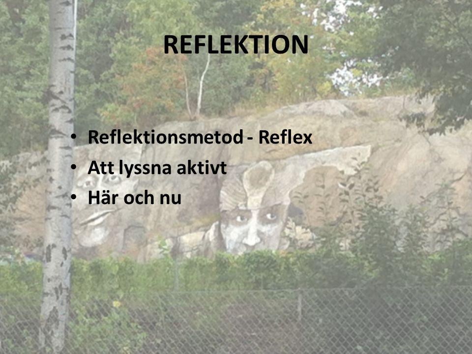 REFLEKTION Reflektionsmetod - Reflex Att lyssna aktivt Här och nu