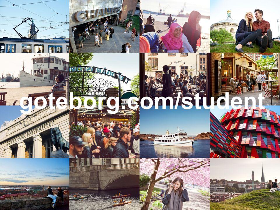 och följ oss på facebook för nyheter student göteborg Ta del av hela välkomstprogrammet på goteborg.com/student