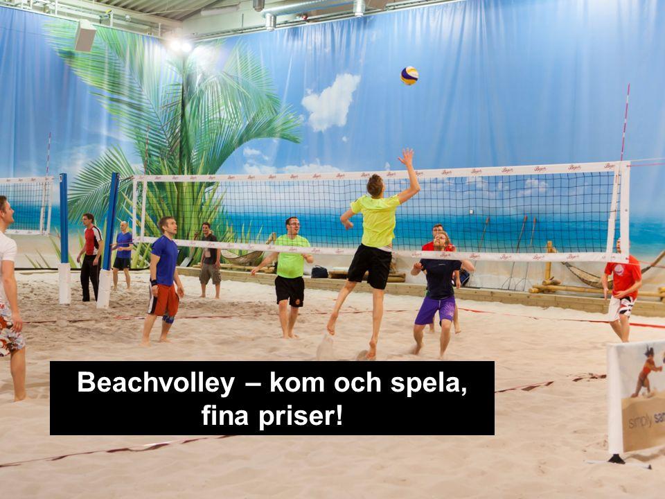 Beachvolley – kom och spela, fina priser!