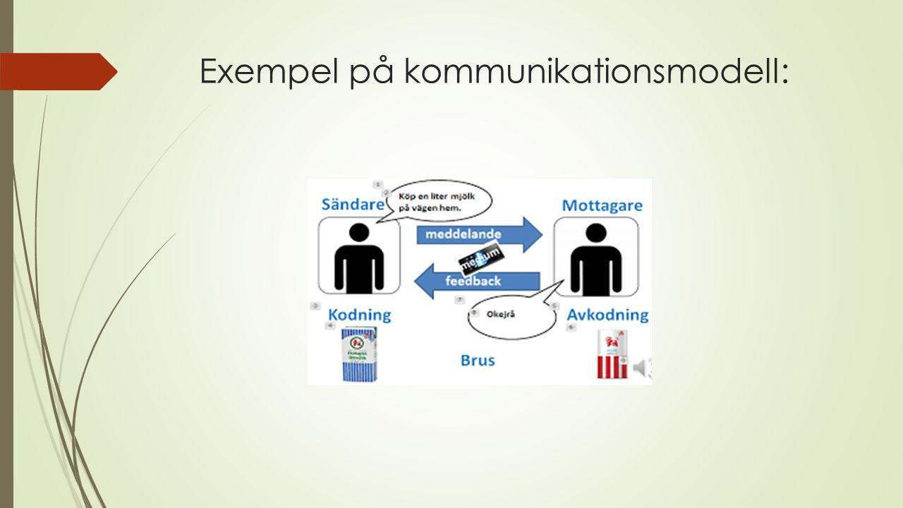 Exempel på kommunikationsmodell: