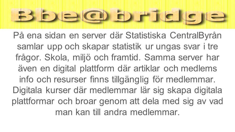På ena sidan en server där Statistiska CentralByrån samlar upp och skapar statistik ur ungas svar i tre frågor.