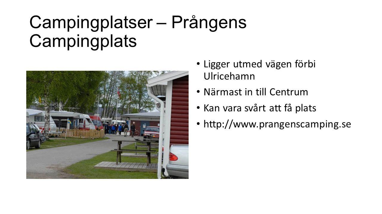 Campingplatser – Prångens Campingplats Ligger utmed vägen förbi Ulricehamn Närmast in till Centrum Kan vara svårt att få plats http://www.prangenscamping.se