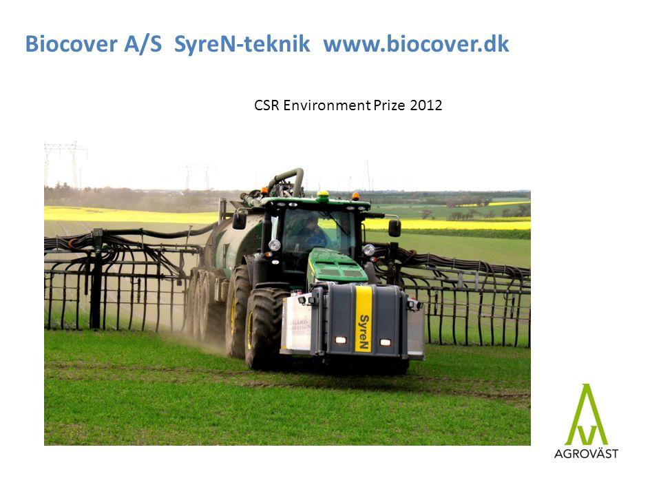 Biocover A/S SyreN-teknik www.biocover.dk CSR Environment Prize 2012