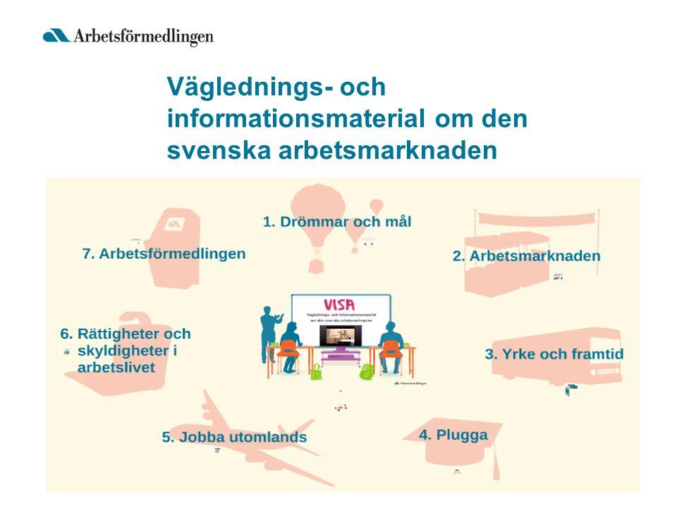 Väglednings- och informationsmaterial om den svenska arbetsmarknaden