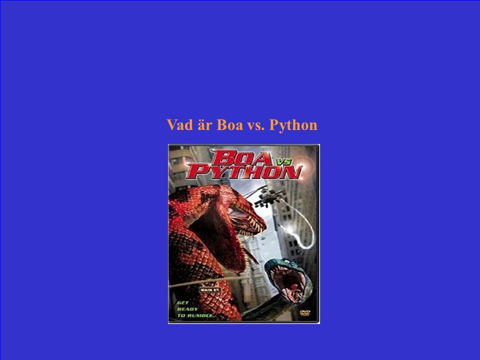Film där FBI är på jakt efter en jättelik pytonorm som sluppit lös och använder som motmedel en ormforskares lika stora boaorm.