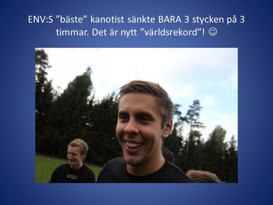 ENV:S bäste kanotist sänkte BARA 3 stycken på 3 timmar. Det är nytt världsrekord !