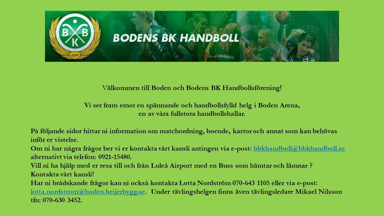 Välkommen till Boden och Bodens BK Handbollsförening.