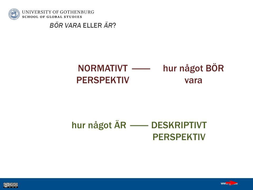 www.gu.se BÖR VARA ELLER ÄR.