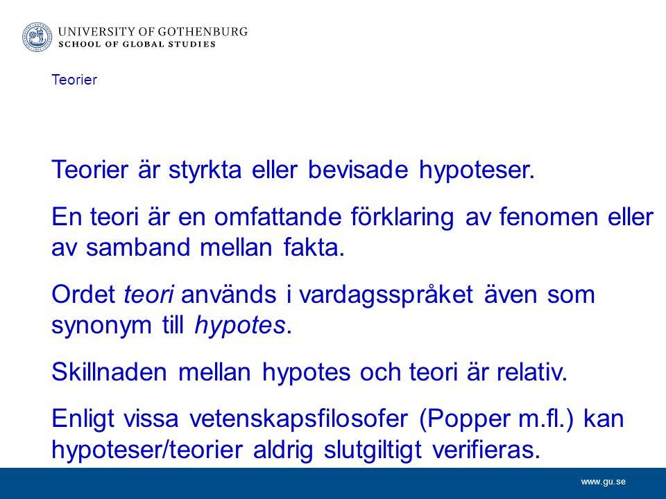 www.gu.se En del naturvetenskapliga teorier benäms lagar.