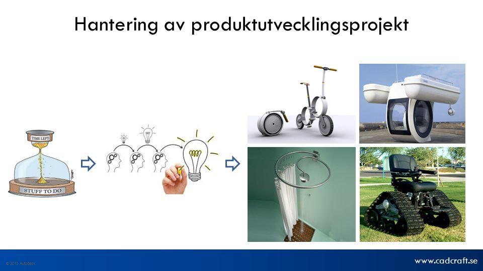 www.cadcraft.se © 2013 Autodesk Hantering av produktutvecklingsprojekt