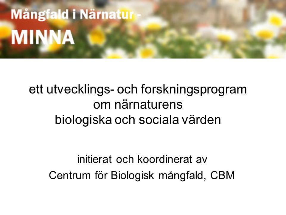 ett utvecklings- och forskningsprogram om närnaturens biologiska och sociala värden initierat och koordinerat av Centrum för Biologisk mångfald, CBM