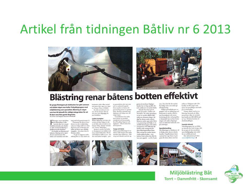 Artikel från tidningen Båtliv nr 6 2013