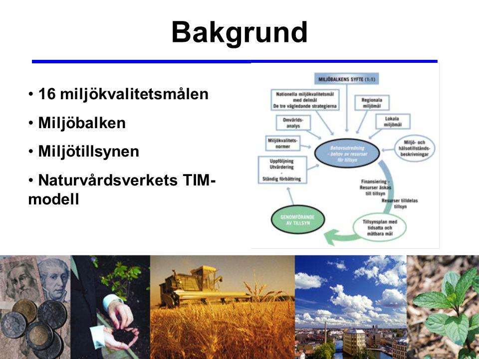 Syfte Att studera hur målstyrd miljötillsyn fungerar i praktiken på kommunal nivå.
