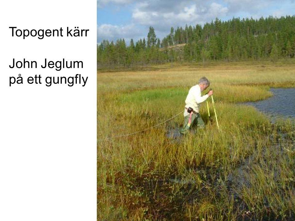 Topogent kärr John Jeglum på ett gungfly