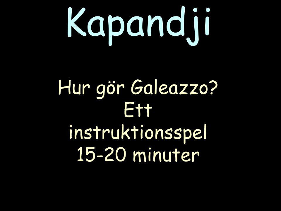 Hur gör Galeazzo? Ett instruktionsspel 15-20 minuter Kapandji