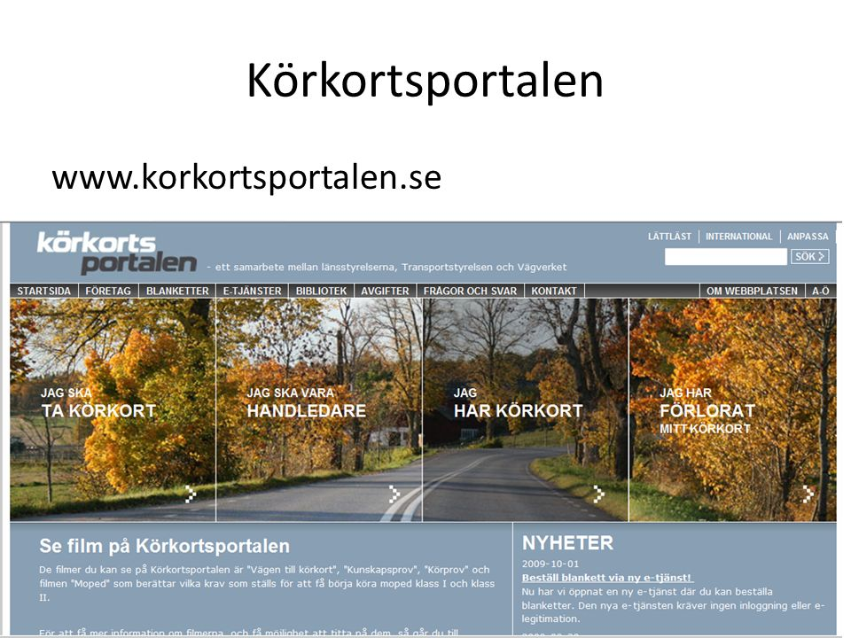 Körkortsportalen www.korkortsportalen.se