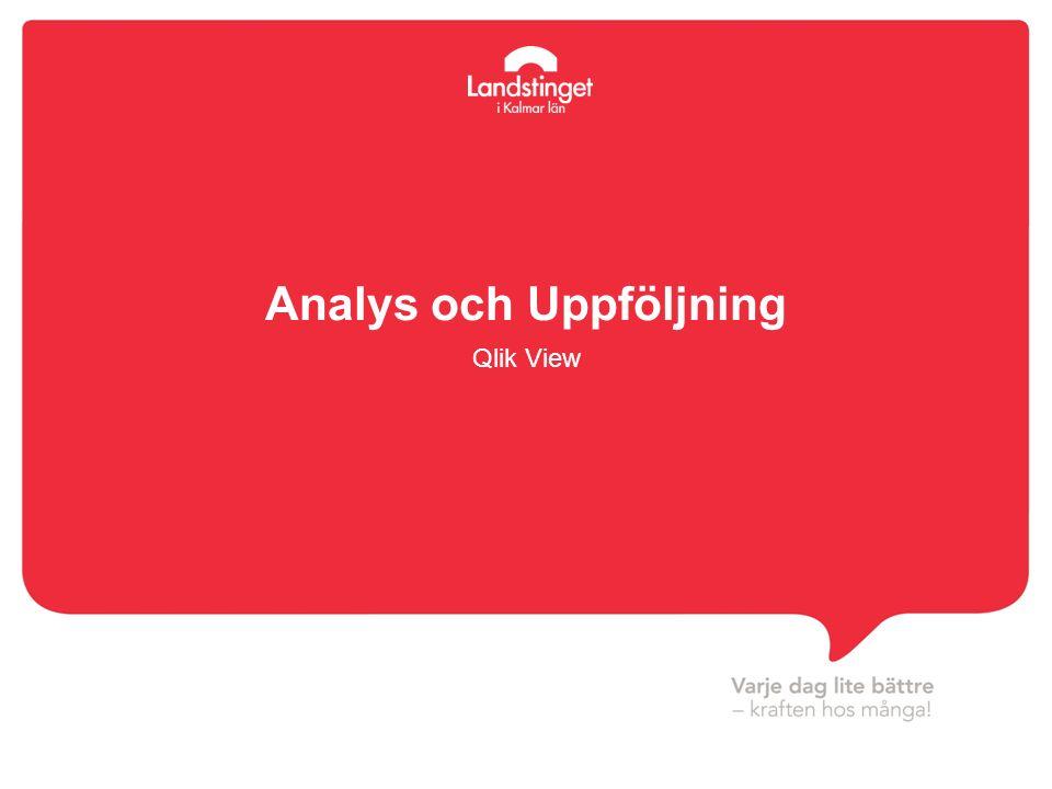 Analys och Uppföljning Qlik View