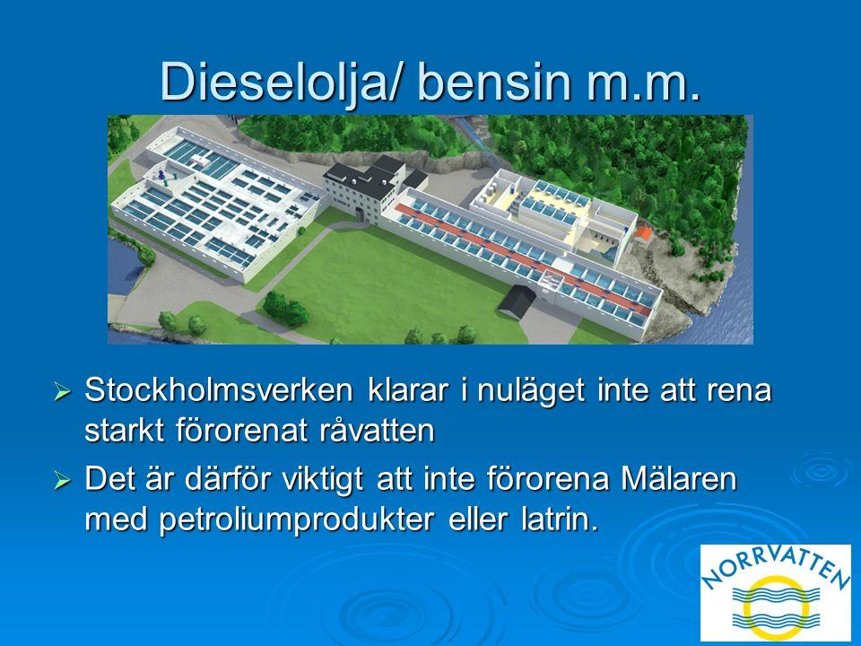 Dieselolja/ bensin m.m.