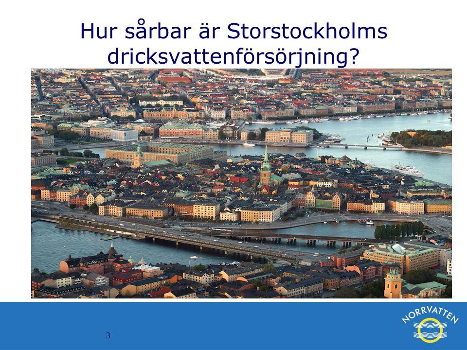 3 Hur sårbar är Storstockholms dricksvattenförsörjning