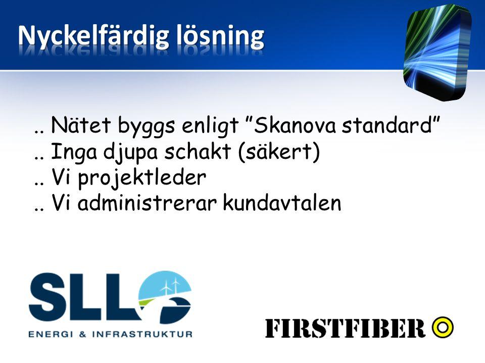""".. Nätet byggs enligt """"Skanova standard"""".. Inga djupa schakt (säkert).. Vi projektleder.. Vi administrerar kundavtalen"""