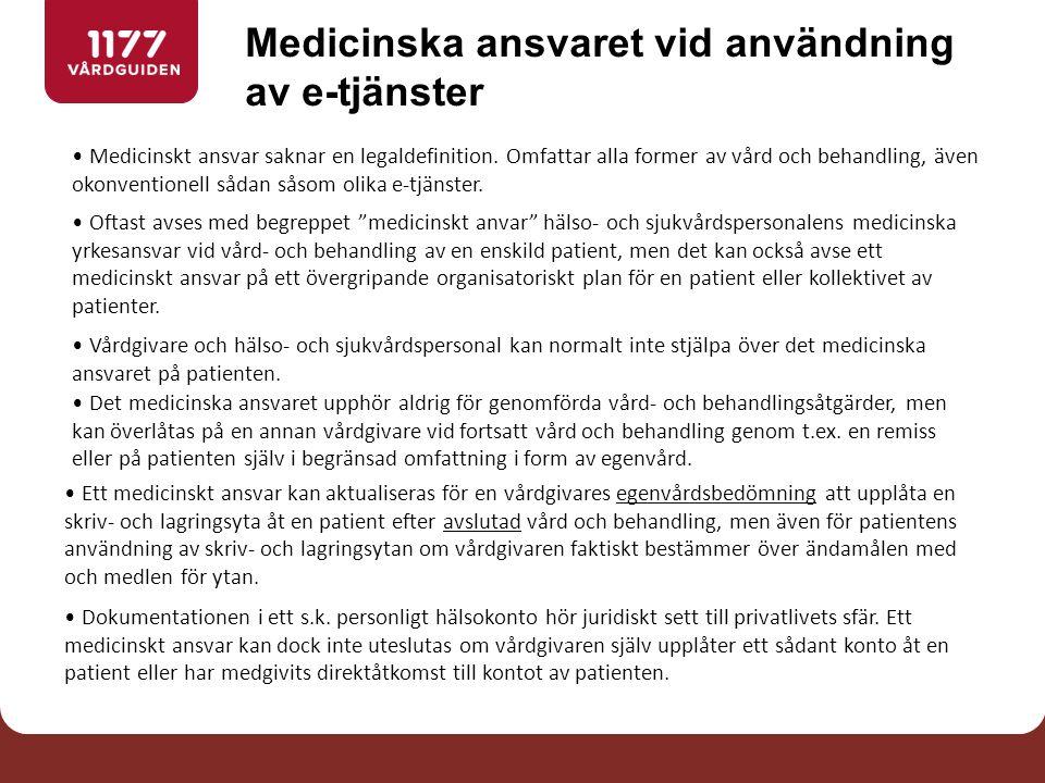 Medicinskt ansvar saknar en legaldefinition.