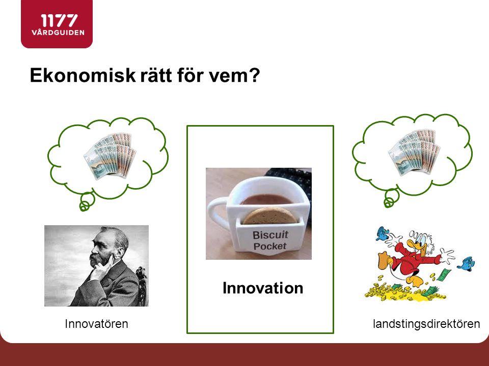 Ekonomisk rätt för vem Innovation Innovatörenlandstingsdirektören