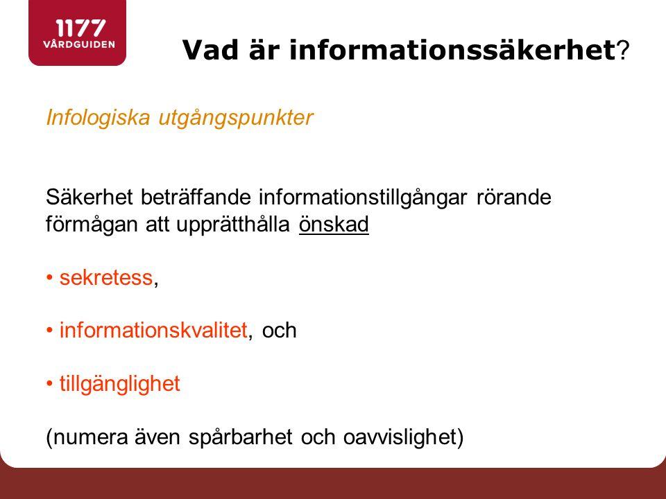 Vad är informationssäkerhet .
