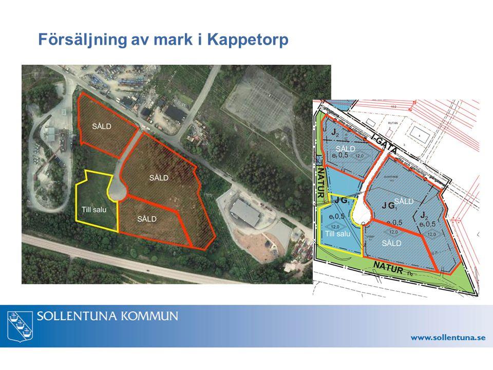 Försäljning av mark i Kappetorp