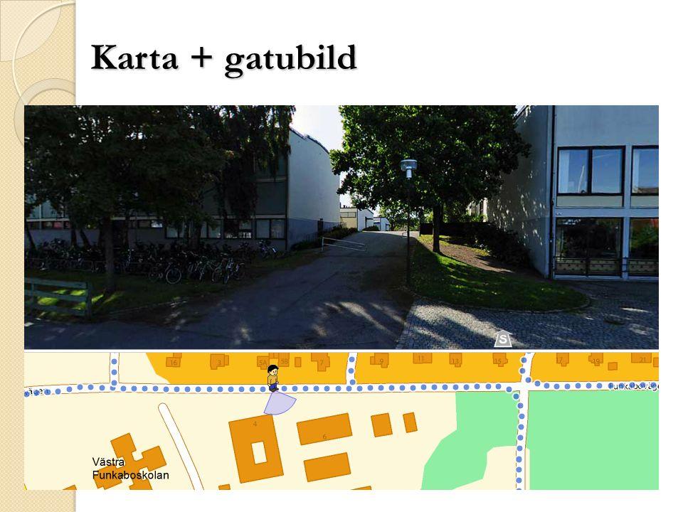 Karta + gatubild