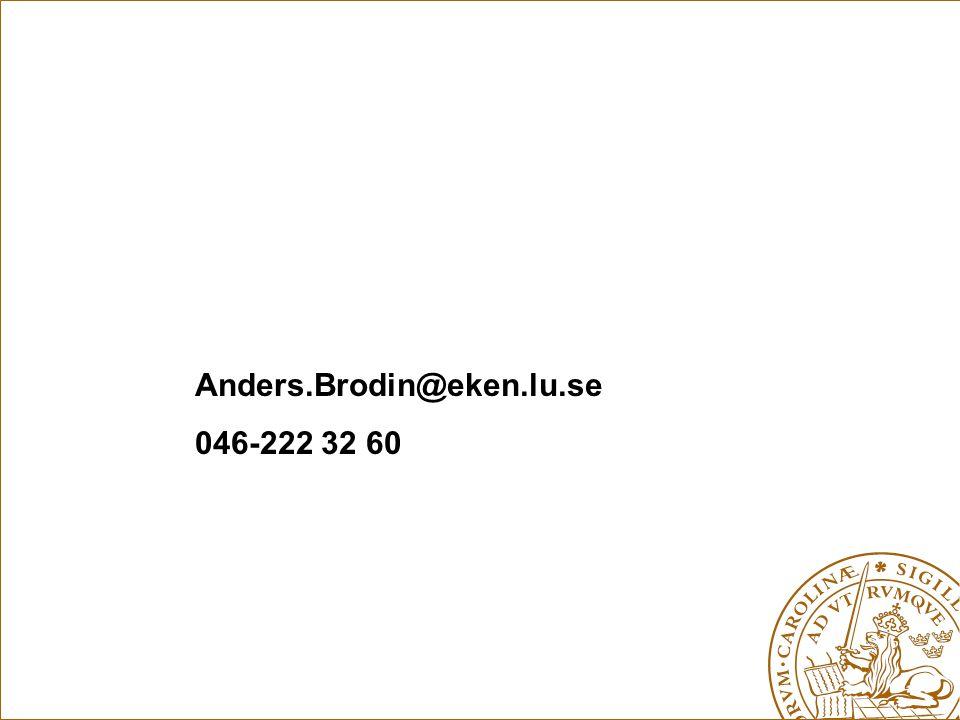Anders.Brodin@eken.lu.se 046-222 32 60
