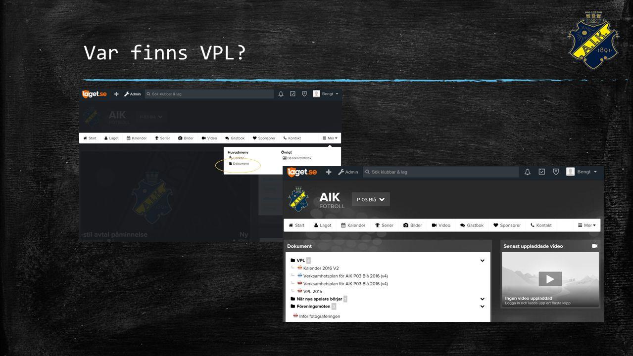 Var finns VPL?