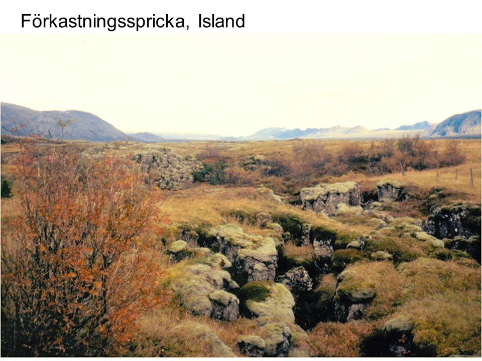 Förkastningsspricka, Island