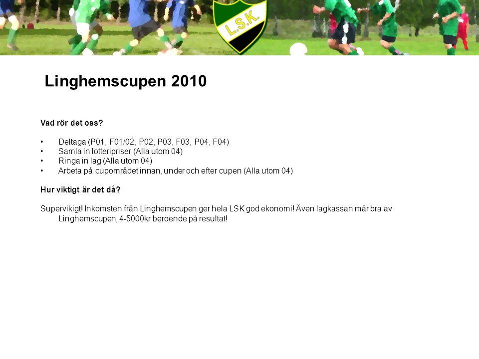 Linghemscupen 2010 Vad rör det oss.