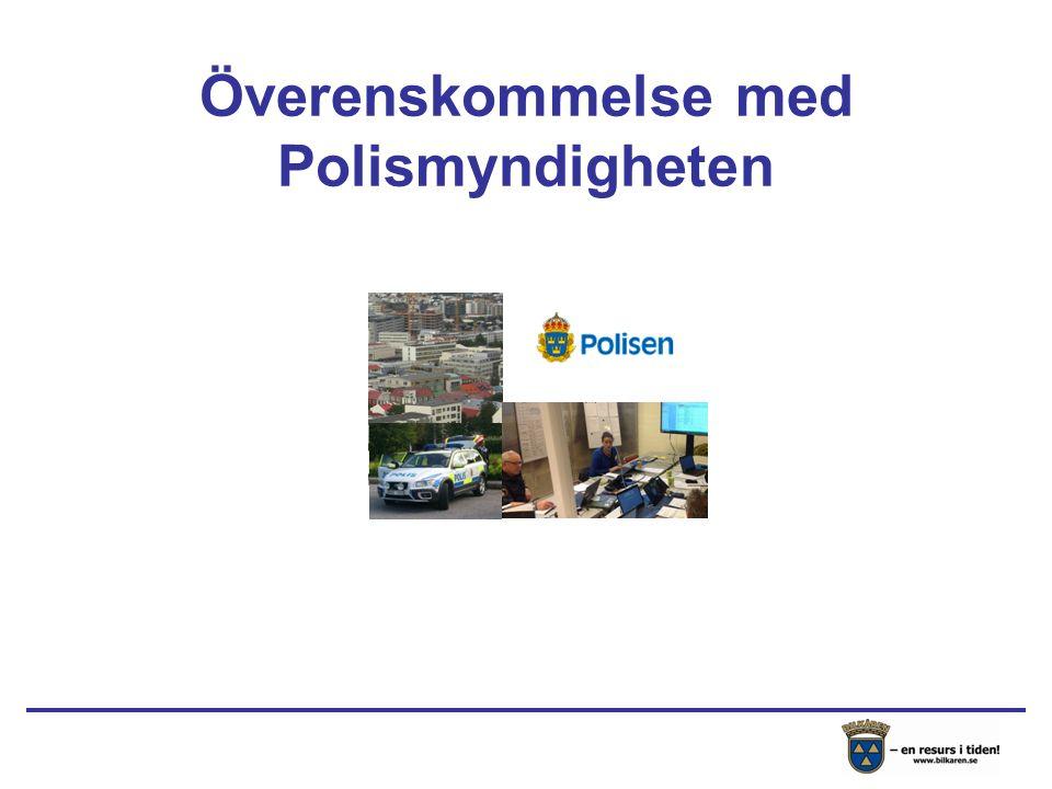 Överenskommelse med Polismyndigheten