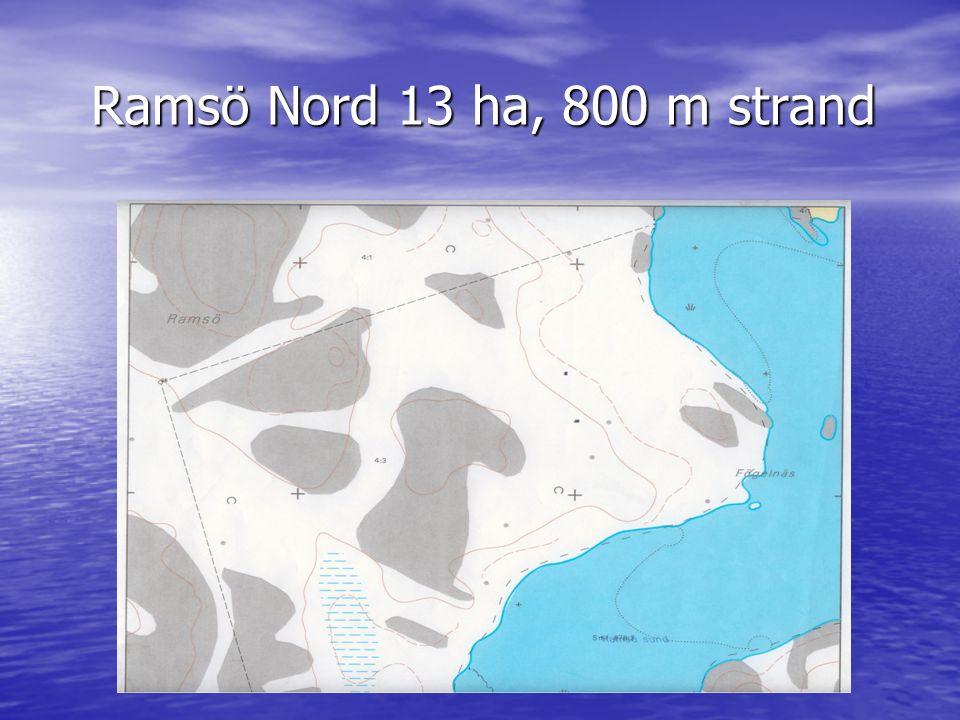 Ramsö Nord 13 ha, 800 m strand Ramsö Nord 13 ha, 800 m strand