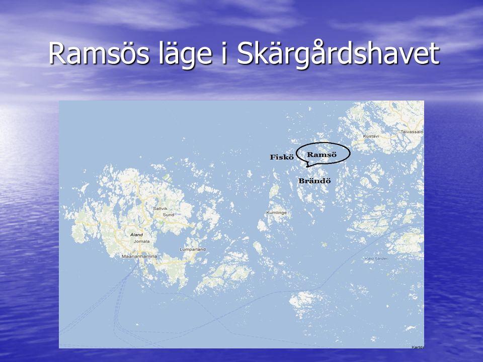 Ramsös läge i Skärgårdshavet Ramsös läge i Skärgårdshavet