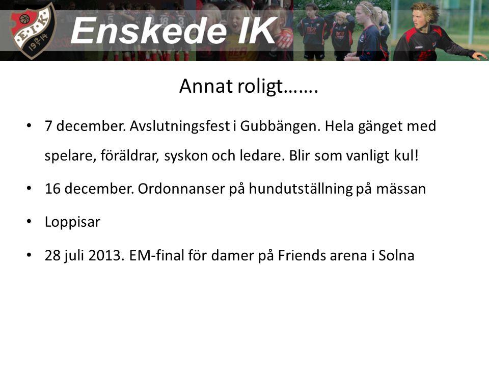 Annat roligt……. 7 december. Avslutningsfest i Gubbängen.