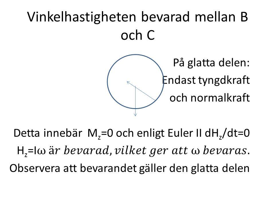 Krafter på systemet Tyngdkraft Mg riktad vertikalt nedåt Reaktionskraft i lagret i O Dämpande kraft: -c3rdθ/dt motsatt riktad rörelsen.