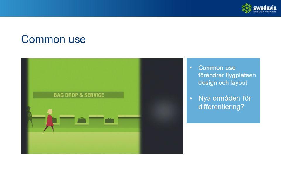 Common use Common use förändrar flygplatsen design och layout Nya områden för differentiering
