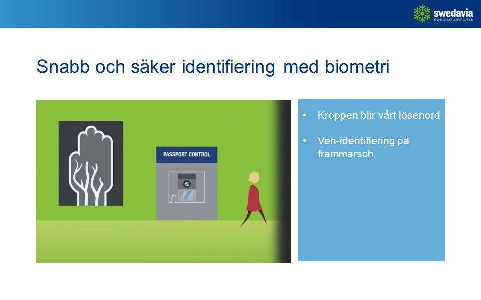 Snabb och säker identifiering med biometri Kroppen blir vårt lösenord Ven-identifiering på frammarsch
