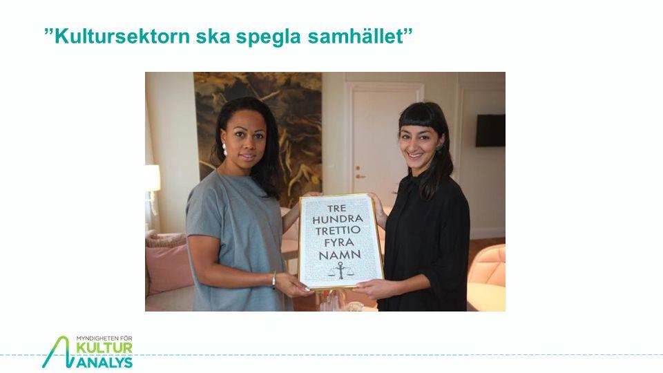 """""""Kultursektorn ska spegla samhället"""""""