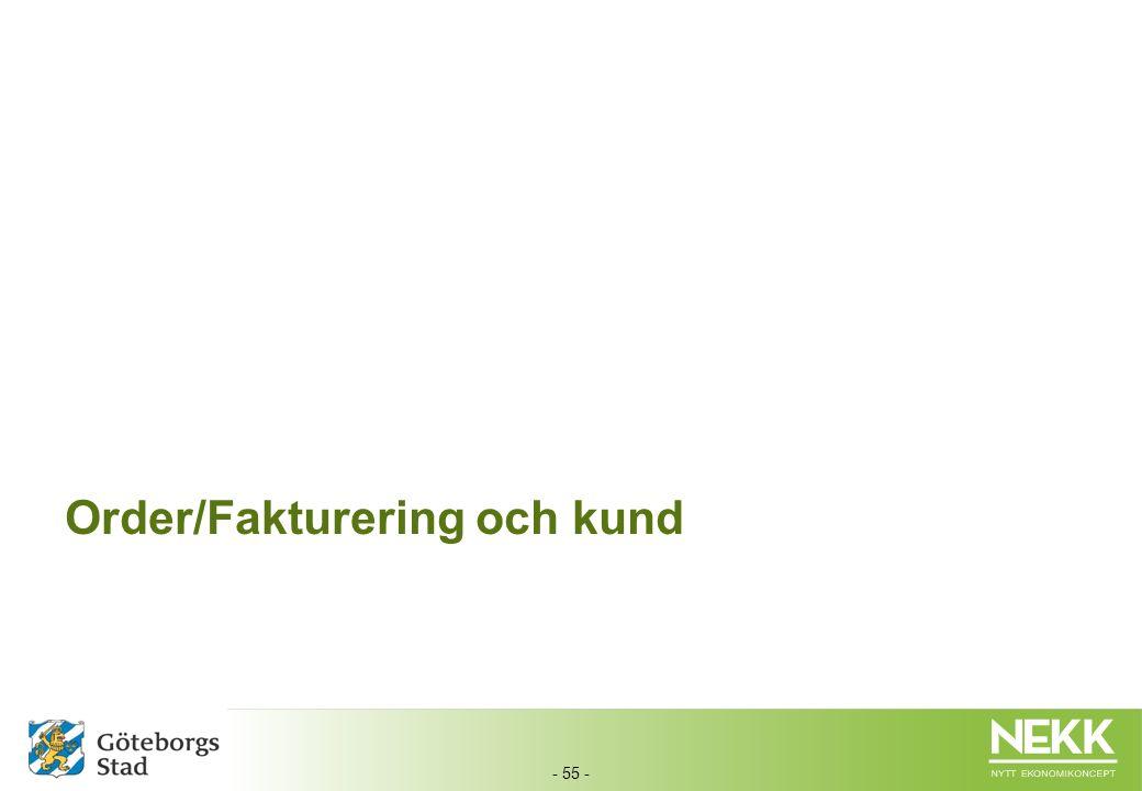 - 55 - Order/Fakturering och kund