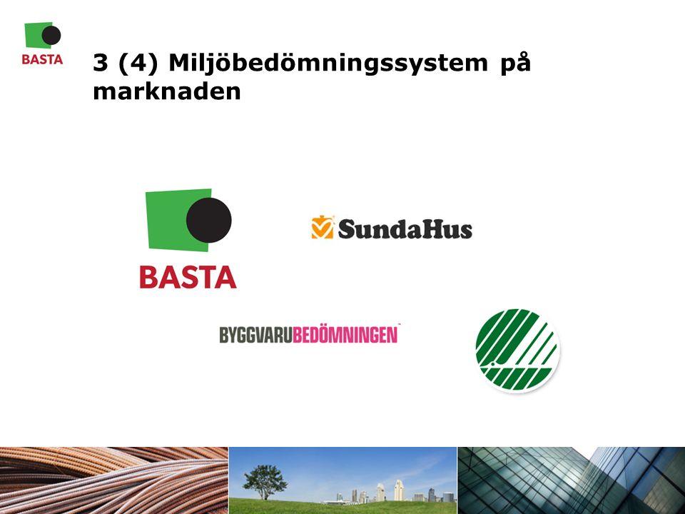 3 (4) Miljöbedömningssystem på marknaden
