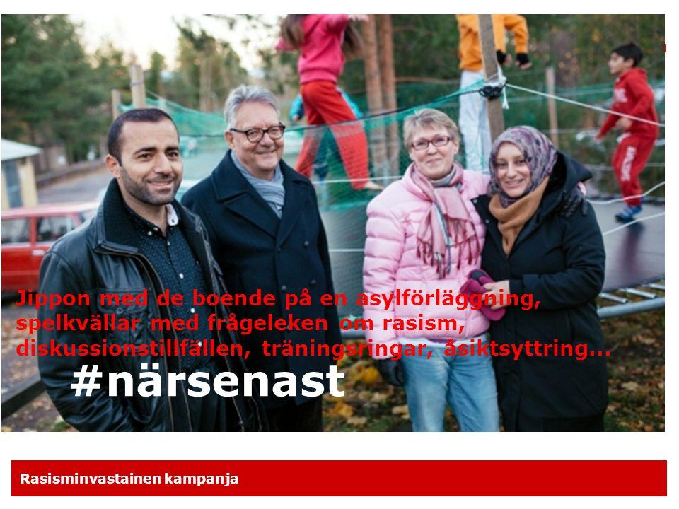 Rasisminvastainen kampanja Vi bjuder in nya frivilliga och medlemmar  Medlemskapet i Röda Korset är ett ställningstagande mot rasism och diskriminering.